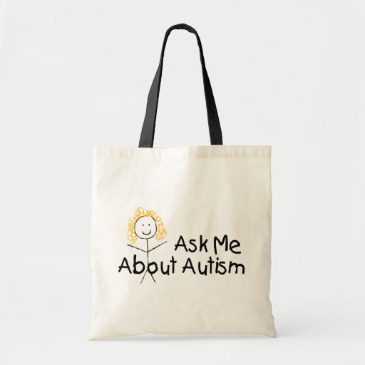 Ask Me About Autism (Girl) Canvas Bags