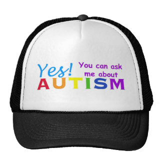 Ask Me About Autism Mesh Hats