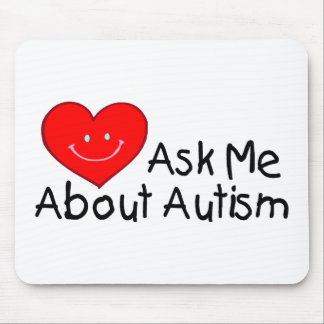 Ask Me About Autism (Heart) Mouse Pad