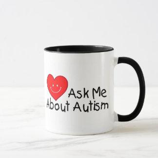 Ask Me About Autism (Heart) Mug