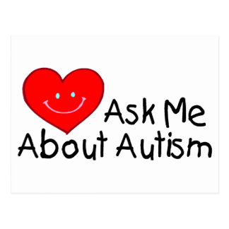 Ask Me About Autism (Heart) Postcard