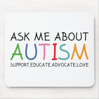 Ask Me About Autism Mouse Pad