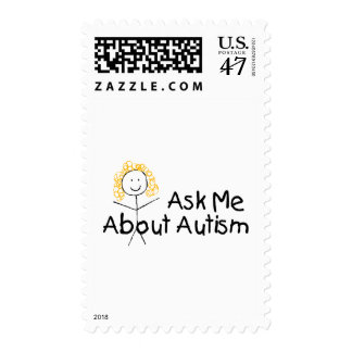 Ask Me About Autism Postage
