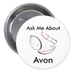 Ask Me About Avon - Round Button