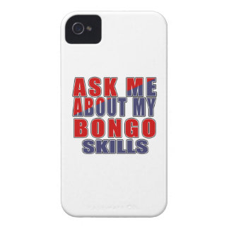 ASK ME ABOUT BONGO DANCE iPhone 4 Case-Mate CASE
