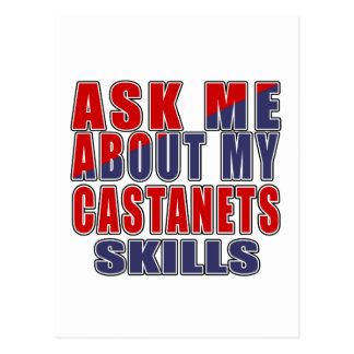 ASK ME ABOUT CASTANETS DANCE POSTCARD