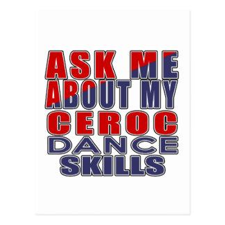 ASK ME ABOUT CEROC DANCE POSTCARD