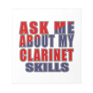 ASK ME ABOUT CLARINET DANCE NOTEPAD