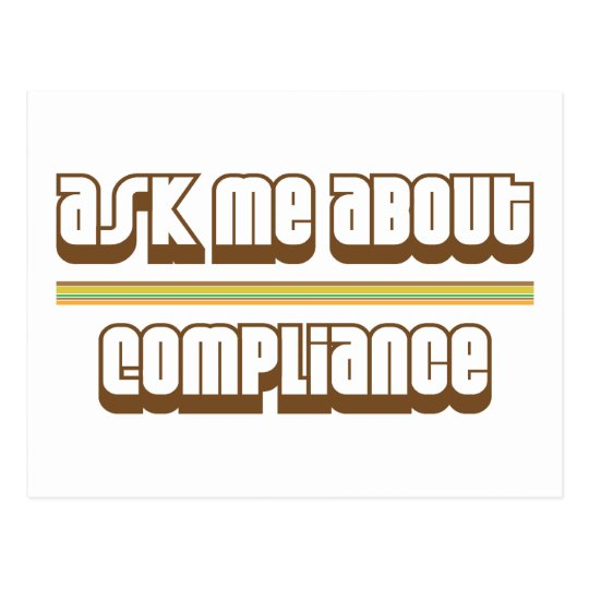 Ask Me About Compliance Postcard