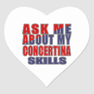 ASK ME ABOUT CONCERTINA DANCE HEART STICKER