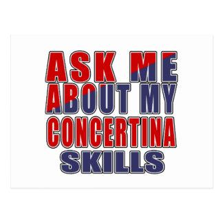 ASK ME ABOUT CONCERTINA DANCE POSTCARD