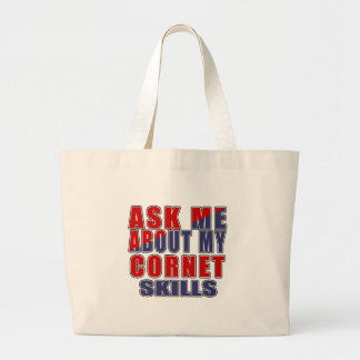 ASK ME ABOUT CORNET DANCE LARGE TOTE BAG