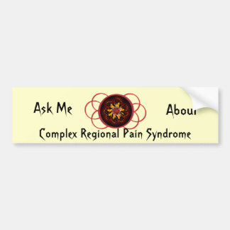 Ask Me About CRPS Red & Black Star Burst Scroll Bumper Stickers