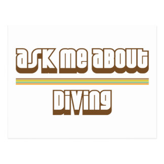 Ask Me About Diving Postcard
