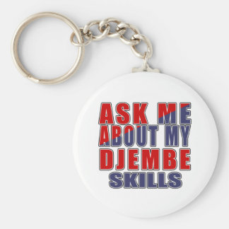ASK ME ABOUT DJEMBE DANCE KEYCHAIN