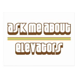 Ask Me About Elevators Postcard