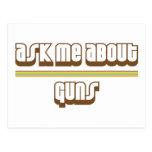Ask Me About Guns Postcard