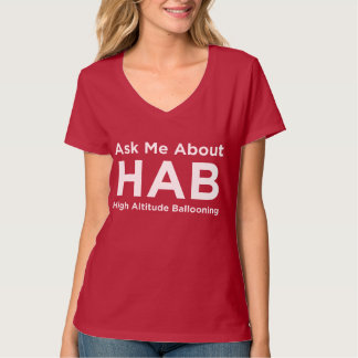 Ask me about HAB - White T-shirt