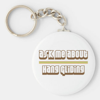 Ask Me About Hang Gliding Basic Round Button Keychain