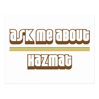 Ask Me About Hazmat Postcard