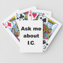 Ask me about IC Bicycle Playing Cards