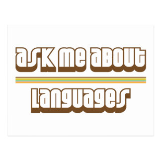 Ask Me About Languages Postcard