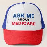 "Ask Me About Medicare Trucker Hat<br><div class=""desc"">TheInsuranceSquad.com ""Ask Me About Medicare"" Trucker Hat</div>"