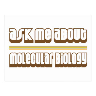 Ask Me About Molecular Biology Postcard