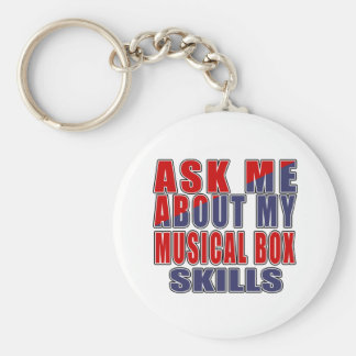 ASK ME ABOUT MUSICAL BOX MUSIC KEYCHAIN