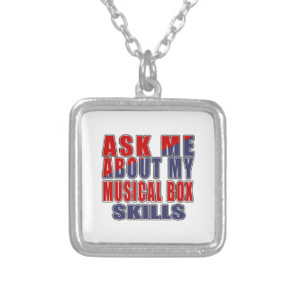 ASK ME ABOUT MUSICAL BOX MUSIC SQUARE PENDANT NECKLACE