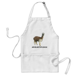 Ask Me About My Alpacas Adult Apron