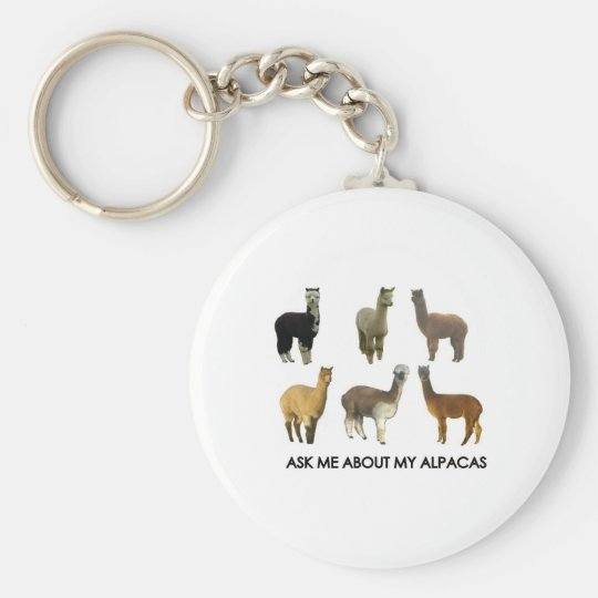 Ask me about my alpacas keychain