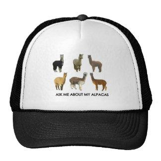 Ask me about my alpacas trucker hat