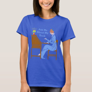 Ask Me About My Book Art Deco Lady Author T-Shirt
