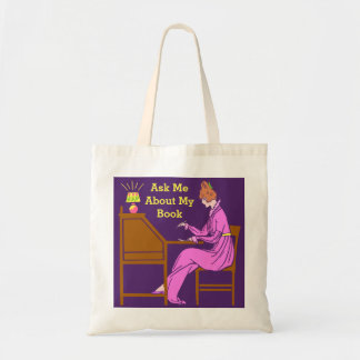 Ask Me About My Book Art Deco Lady Author Tote Bag