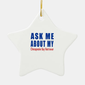 Ask me about my Chesapeake Bay Retriever Ceramic Ornament