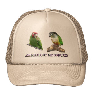 Ask Me About My Conures Hats