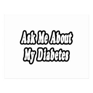 Ask Me About My Diabetes Postcard