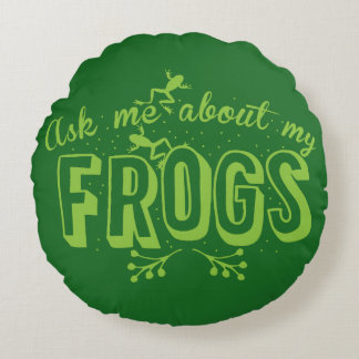 Ask me about my frogs cushion
