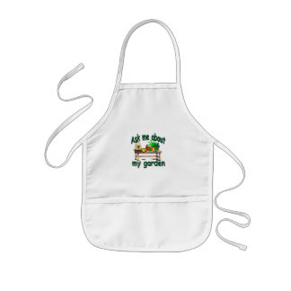 Ask Me About My Garden Kids' Apron