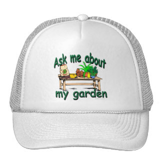 Ask Me About My Garden Trucker Hat