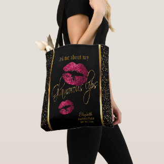 Ask me about my Glamorous Lips - Lipstick Design Tote Bag