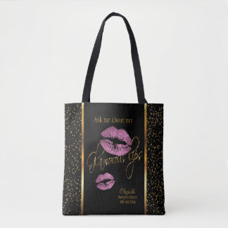 Ask me about my Glamorous Lips -So Pink Design Tote Bag