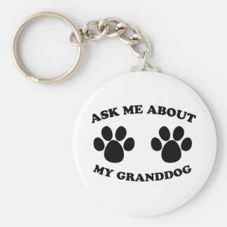 Ask Me About My Granddog Basic Round Button Keychain