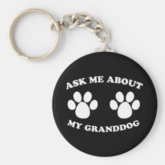 Ask Me About My Granddog (Dark) Keychain