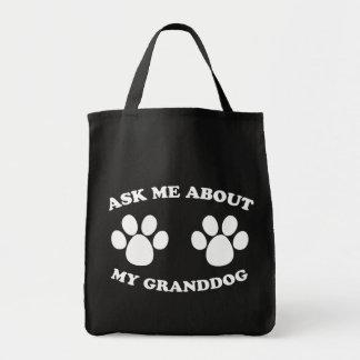 Ask Me About My Granddog (Dark) Tote Bag