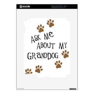 Ask Me About My Granddog iPad 2 Decals