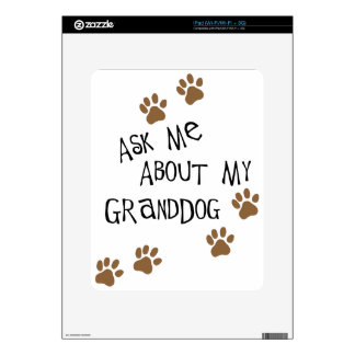 Ask Me About My Granddog iPad Decals