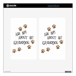 Ask Me About My Granddog Kindle Fire Decals