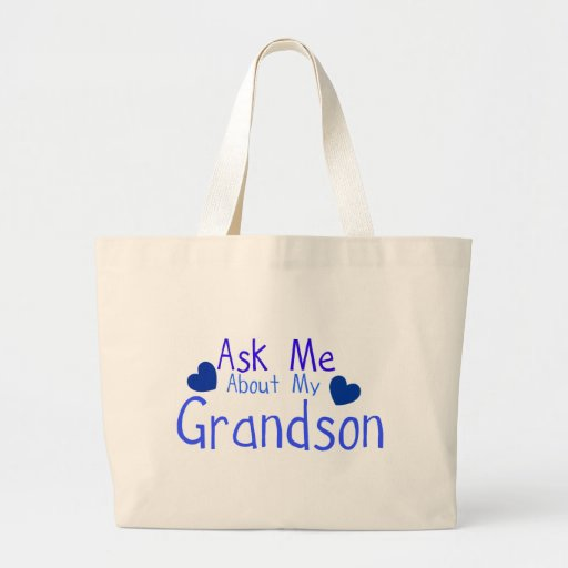 Ask me about my Grandson! Canvas Bag